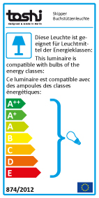 Energy Label Bookend lamp