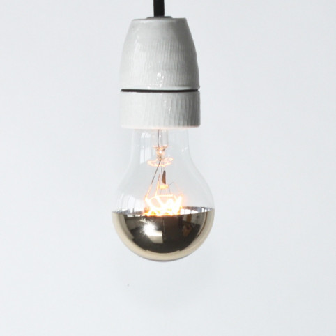 Bulb, topmirror gold, E27, 40/60 watts