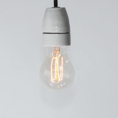Birnenlampe, Dekodraht (Rechteckformfaden), E27, 40W