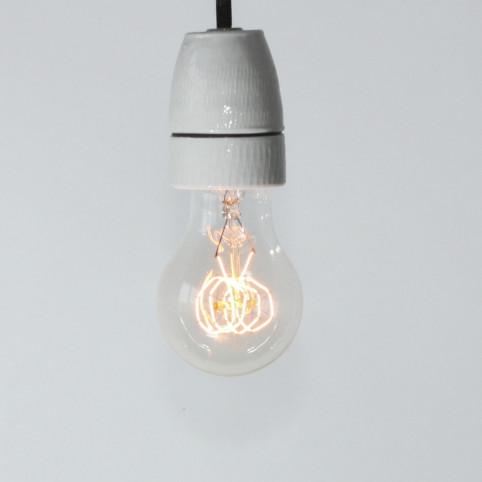 Birnenlampe, Dekodraht (Spiralformfaden), E27, 40W