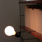 Sliding shelf lamp