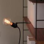 Sliding shelf lamp
