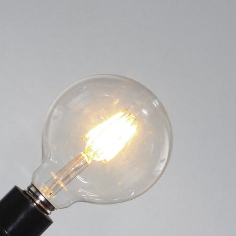 toshi LED globe Ø95, clear, E27, 4W