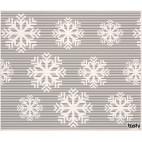 Sponge cloth furbi: Snowflakes