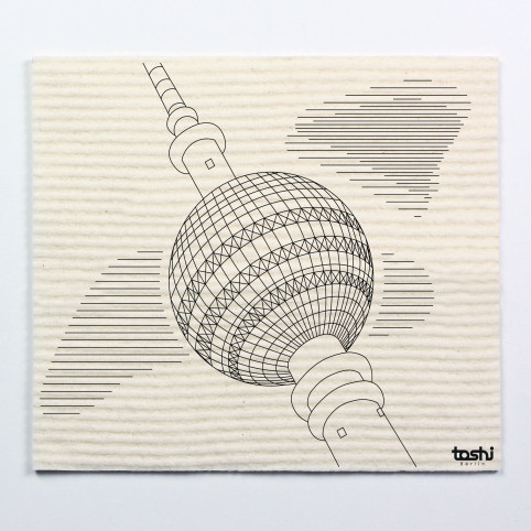 Sponge cloth furbi: Television Tower Berlin