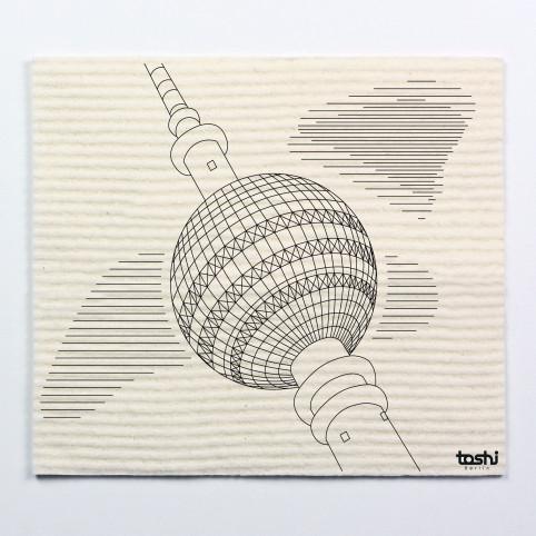 Schwammtuch furbi: Fernsehturm Berlin