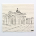 Sponge cloth furbi: Brandenburg Gate