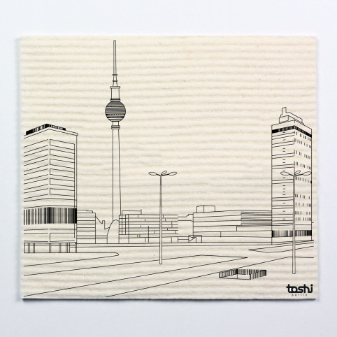 Sponge cloth furbi: Berlin´s Alexanderplatz