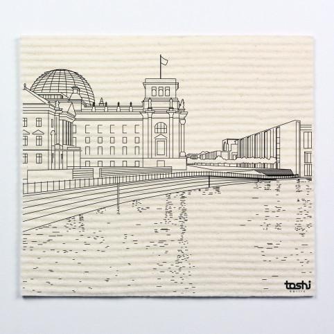 Sponge cloth furbi: Berlin's Reichstag
