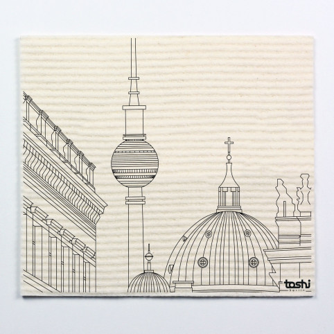 Sponge cloth furbi: Berlin's cathedral and TV tower
