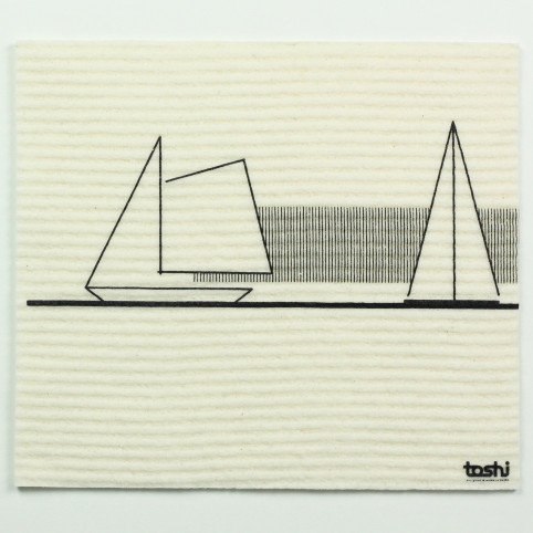 sponge cloth furbi: Sailing boats